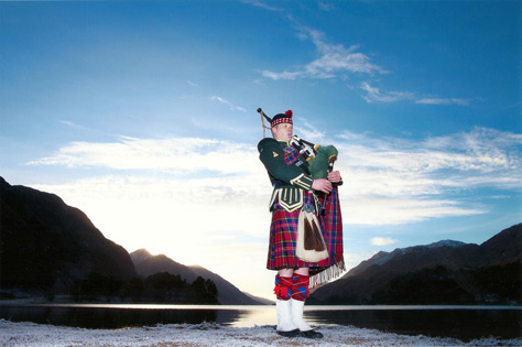 PIPED IN by Bryce McCulloch, About a Scottish Highland